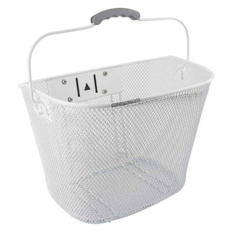 SUNLITE Basket Front Mesh Qr Wh W/25.4-31.8 Bracket - TL-393NF/P.E. WHT