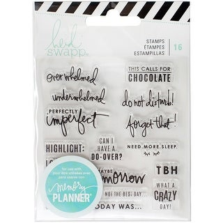 American Crafts 315131 Heidi Swapp Memory Planner 16Piece Clear Stamps Day