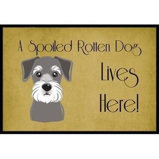 Carolines Treasures BB1454JMAT Schnauzer Spoiled Dog Lives Here Indoor & Outdoor Mat 24 x 36 in.