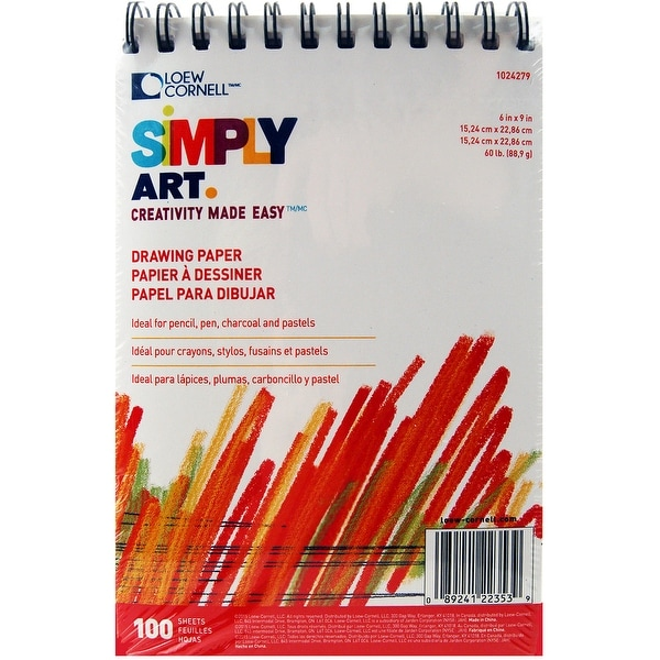 "Simply Art Drawing Pad 6""X9""-100 Sheets"