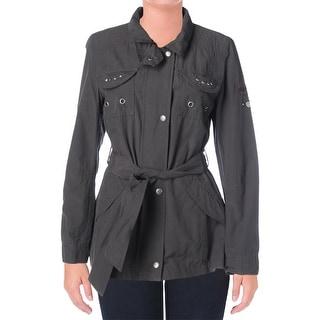 Buffalo David Bitton Womens Twill Studded Jacket