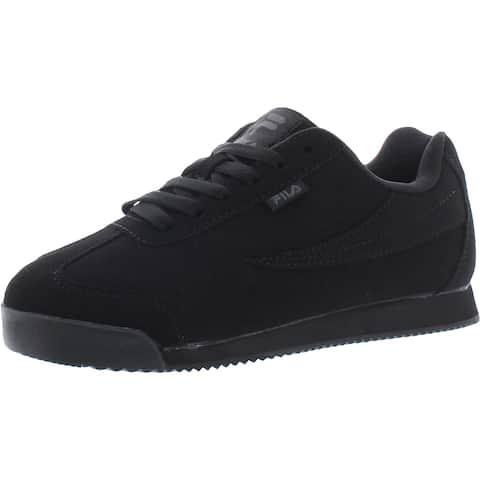 Fila Womens Mezando Walking Shoes Synthetic Low Top - Black/Black/Black - 6.5 Medium (B,M)