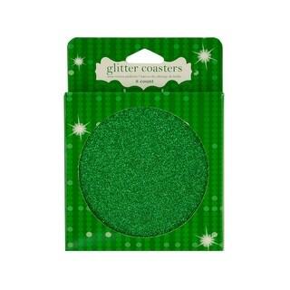 Green Glitz Glitter Coasters - Pack of 24