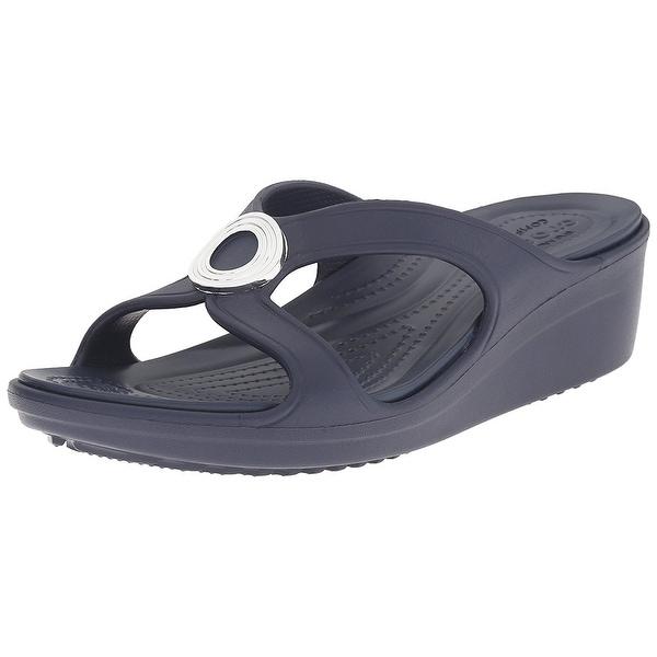 e0a724785939 ... Women s Shoes     Women s Sandals. Crocs Women  x27 s Sanrah Beveled  Circle W Wedge Sandal