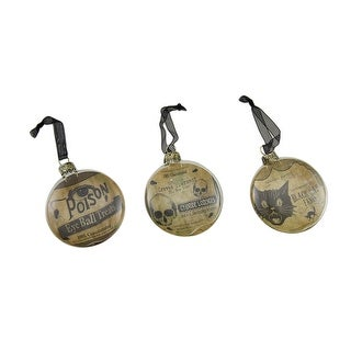 3 Pc. Bethany Lowe Vintage Style Glass Disc Ornament Set