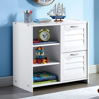 Furniture of America Sosa Transitional White Chest with Shelf