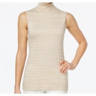 Calvin Klein NEW Beige Heather Women's Size Large L Turtleneck Sweater