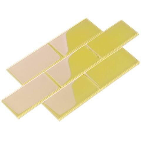 Yellow 4x12 Glass Subway Tile