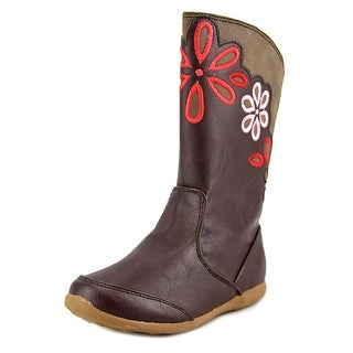 Stride Rite Lilianna Youth W Round Toe Synthetic Brown Knee High Boot