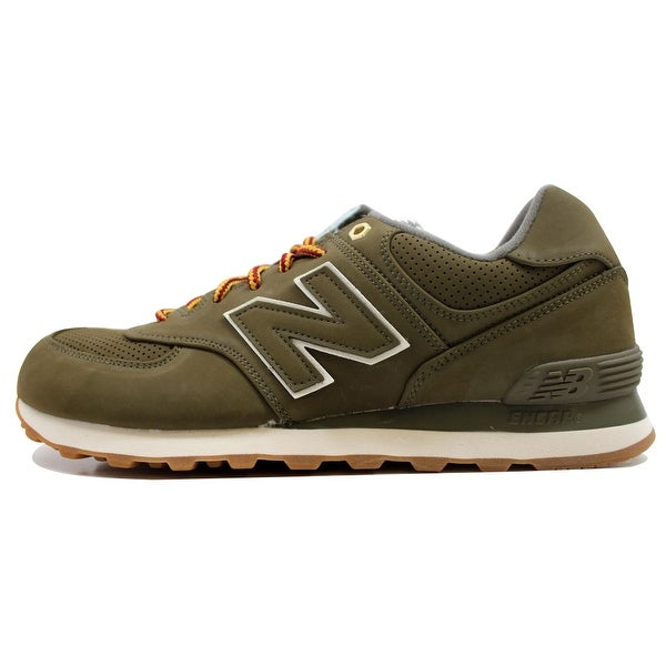 official photos 44ddc 46641 New Balance Men  x27 s 574 Lifestyle Olive Green Gum ML574HRX
