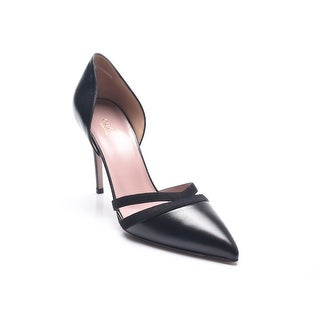 Gucci Women's Leather and Suede D'Orsay Pumps Black