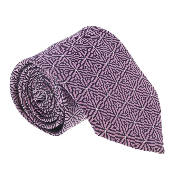 bfbbfb62 Ermenegildo Zegna Pink-Navy Hexagon Stripe Tie - 60-3
