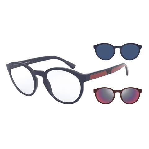 Emporio Armani EA4152 56691W 52 Matte Blue Man Phantos Sunglasses