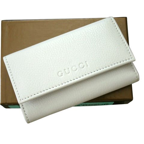 Gucci Unisex White Leather Key Chain/Holder with Box 260989 9014 - One size
