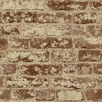 York Wallcoverings BZ9206 Stuccoed Brick Wallpaper