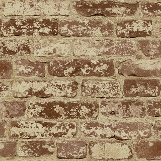 York Wallcoverings BZ9206 Stuccoed Brick Wallpaper