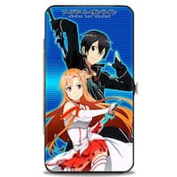Asuna & Kirito Pose Stripe Blues Hinged Wallet - One Size Fits most