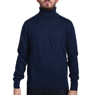Valentino Men's Turtleneck Sweater Navy Blue