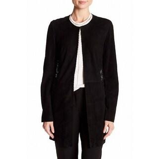 Ellie Tahari NEW Black Women's Size Small S Basic Jacket Lamb Suede