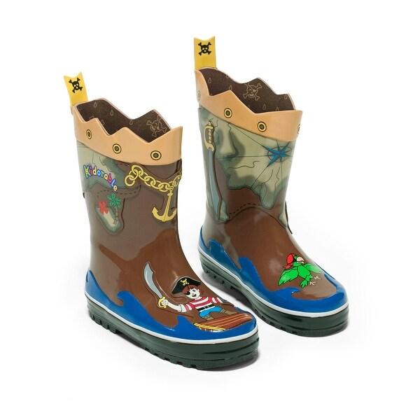Kidorable Pirate Rain Boot - Brown