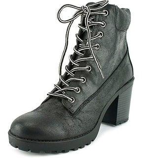 Mia Garrett Round Toe Synthetic Ankle Boot