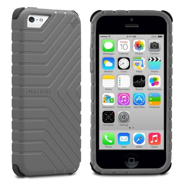 huge selection of e66f2 205b0 PureGear GripTek Advanced Impact Rubberized Protection Case for iPhone 5C,  Gray