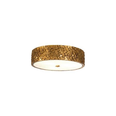 Mosaic 3-Light flush Mount in Gold