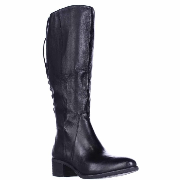 Steve Madden Laceup Wide Calf Boots, Black
