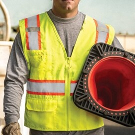Solid Front Vest with Mesh Back High visibility Vest (More options available)