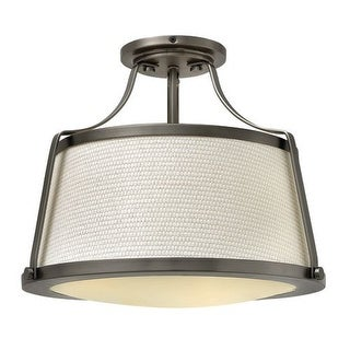 Hinkley Lighting 3521 3 Light Semi-Flush Ceiling Fixture from the Charlotte Collection