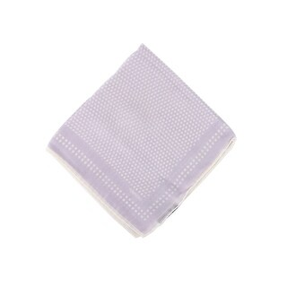 Tom Ford Mens Lavender Polka Dot Silk Pocket Square