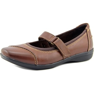 Clarks Haydn Garnet Women Square Toe Leather Brown Mary Janes
