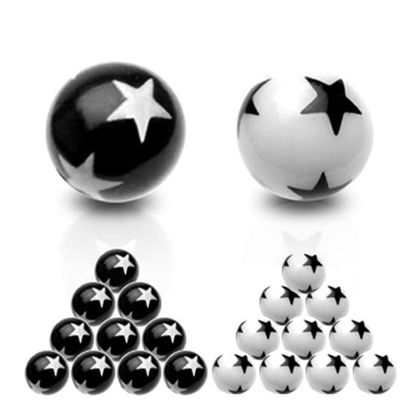 10 Piece Pack of Balls with Star Logos - 14GA (6mm Ball)
