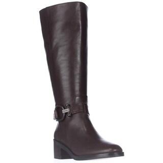 Coach Carolina Wide Calf Knee High Fashion Boots - Chestnut