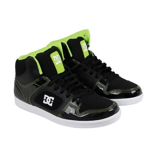 DC Union High Mens Black Leather High Top Lace Up Sneakers Shoes