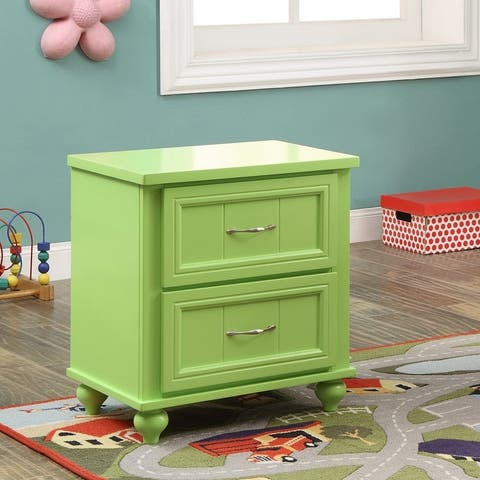 Furniture of America Safi Cottage Solid Wood 2-drawer Youth Nightstand