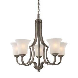 Landmark Lighting 8135 Contemporary / Modern Five Light Chandelier from the Metropolitan Collection