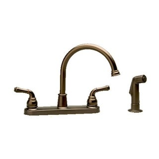 Proflo PFX1414MLS Double Handle Widespread Kitchen Faucet with Decorative Metal