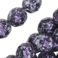 Czech Fire Polished Glass, Faceted Round Beads 8mm, 20 Pieces, Tweedy Violet