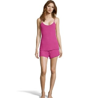 Maidenform Rib Cami & Shorts Set - Color - Baton Rouge - Size - XL