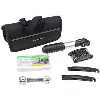 Image 16PCS Bike Tyre Bicycle Cycling Repair Multi Tool Set Kits w/ Mini Pump