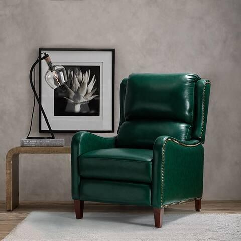 Brigida Genuine Leather Recliner for Living Room
