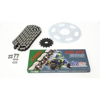 2003-2005 Suzuki LTZ400 CZ ATV X Ring Chain & Silver Sprocket 13/40 520-96 Chain