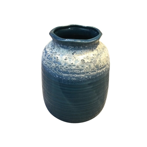 Shop Traditional Style Ceramic Decorative Vase Blue Free Shipping