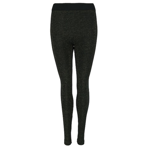 Just One Women's Brushed Back Lined Glitter Leggings