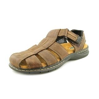 Dr. Scholl's Gaston Round Toe Leather Fisherman Sandal