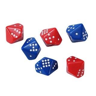 Subitizing Dice 6 Set 3 Red 3 Blue