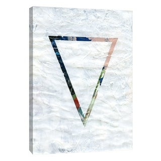 "PTM Images 9-105128  PTM Canvas Collection 10"" x 8"" - ""Frosted Geometry 2"" Giclee Abstract Art Print on Canvas"