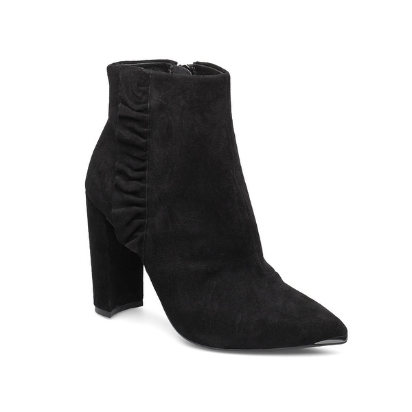 Ted Baker Women's Suede Leather Frillis Bootie Black. Opens flyout.
