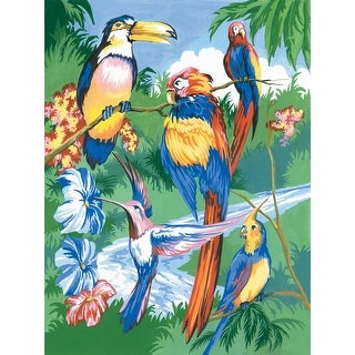 """Junior Small Paint By Number Kit 8.75""""X11.75""""-Tropical Birds"""